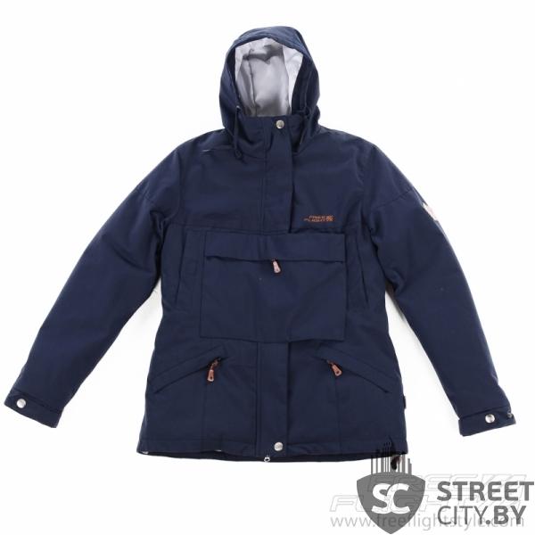 ec3f4b066b70f Женская зимняя парка с карманом планкой FreeFlight синяя купить за ...
